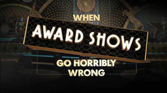 When Award Shows Go Horribly Wrong